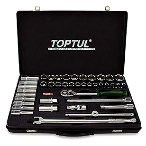 """Универсальный набор инструмента комбинированный TOPTUL 1/2"""" (короткие+длинные головки) GCAD4102"""