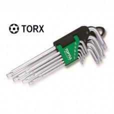 Набор Г-обр. ключей TORX T10-T50 9ед. супердл. с отверстием GAAL0915 TOPTUL
