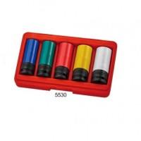 Набор головок ударных для литых дисков 17- 23 мм 5ед.