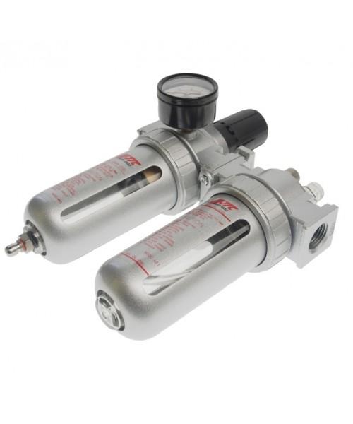 """Блок подготовки воздуха (лубрикатор+осушитель) 1/2"""" с металлическим переключателем, давление 250 PSI"""