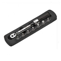"Динамометрический ключ щелчкового типа 1/4"" 1~24Hм 200мм с комплектом бит 7ед."