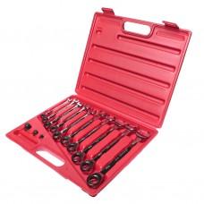 Набор рожково-накидных ключей с трещоткой 8-19мм 10ед. 3028 JTC