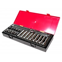 """Набор инструмента TORX ключи E6-E24, головки E10-E24 1/2"""" 24ед K4241 JTC"""