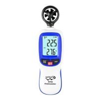 Цифровой крыльчатый анемометр 0,3-30м/с, -10-45°C WINTACT WT82