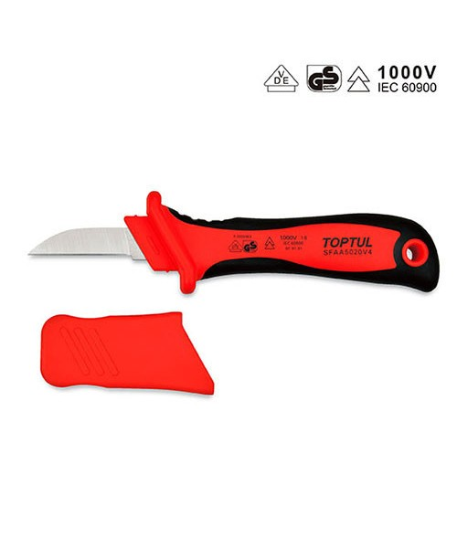 Нож кабельный диэлектрический TOPTUL 1000V VDE SFAA5020V4