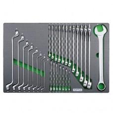 Набор ключей комбинированных и накидных 6-32мм 28ед.(в ложементе) TOPTUL GED2820
