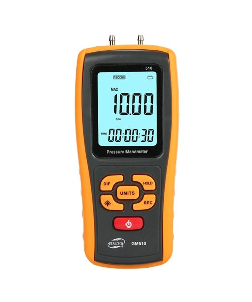 Микроманометр дифференциального давления USB, ±10 кПа BENETECH GM510