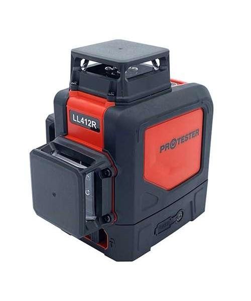 Лазерный уровень, 3x360° (H360/2xV360, красный луч) PROTESTER LL412R