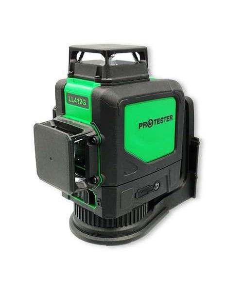 Лазерный уровень, 3x360° (H360/2xV360, зеленый луч) PROTESTER LL412G