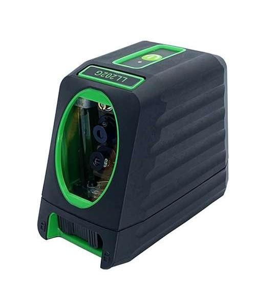 Лазерный уровень, 2 линии, 1H/1V, 2 лазерных модуля (зеленый луч) PROTESTER LL202G