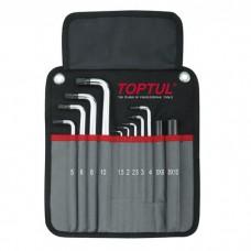 Набор ключей шестигранных с шаром TOPTUL 1,5-10мм 11ед. супердлинных в чехле GPAQ1101