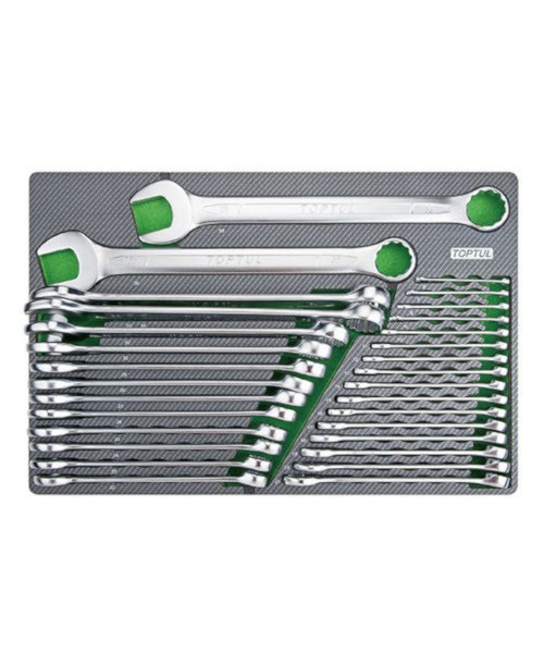 Набор ключей комбинированных 6-38мм 30ед. (в ложементе) TOPTUL GED3025