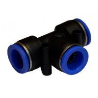 Тройник цанговый для полиуретановых шлангов 6*6*8мм AIRKRAFT SPE06-08