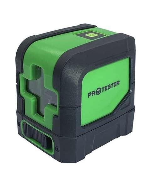 Лазерный уровень, 2 линии, 1H/1V (зеленый луч) PROTESTER LL102G