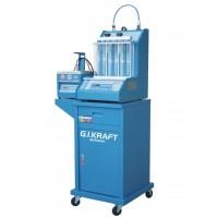 Установка для диагностики и чистки форсунок (6 форсунок, тележка, у/звуковая ванна с таймером) G.I. KRAFT GI19113
