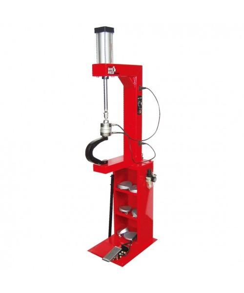 Вулканизатор с пневматическим прижимом, на стойке, 2 нагревательные пластины, комплект прижимов (6 ф TORIN TRAD004Q