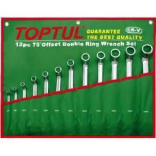 Набор накидных ключей 6-32мм (угол 75°) 12ед. GAAA1204 TOPTUL
