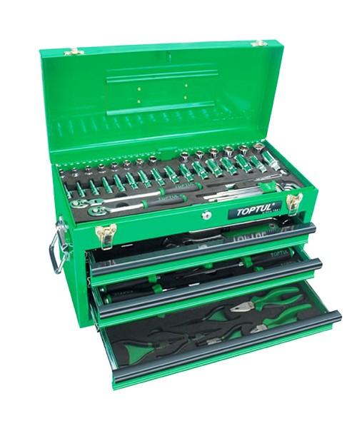 Ящик с инструментом 3секции 82ед. GCAZ0016 TOPTUL
