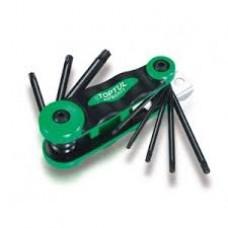 Набор складной ключей TORX: T9-T40 (материал CRV-6150) AIFB0801 TOPTUL