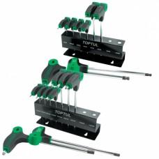 Набор ключей TORX с ручкой L-обр. T10-T50 9ед. GAAX0901 TOPTUL