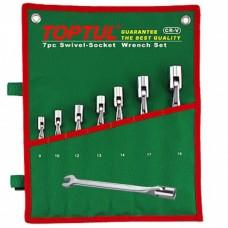 Набор ключей рожково-шарнирных 12 шт. 8-19 Toptul GAAA1208